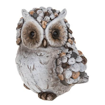 Pebble Art Large Owl